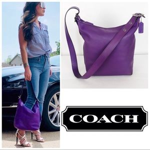 Coach Legacy Ultraviolet Leather Convertible Bag
